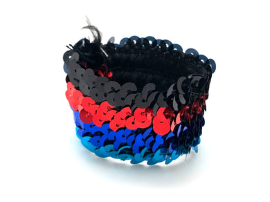 Sequins Bracelet - Black and Red