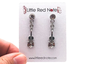 Dangle CZ Cello Earrings