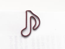 Load image into Gallery viewer, Eighth Note Paper Clips - set of 10 - Red