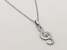Load image into Gallery viewer, Stainless Steel Treble Clef Necklace