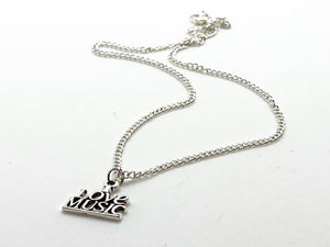 I Love Music Necklace