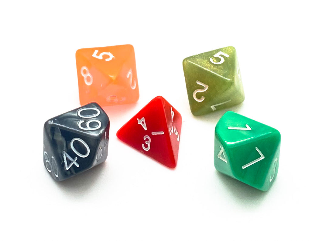 Dice Grab Bag - 5 Polyhedral
