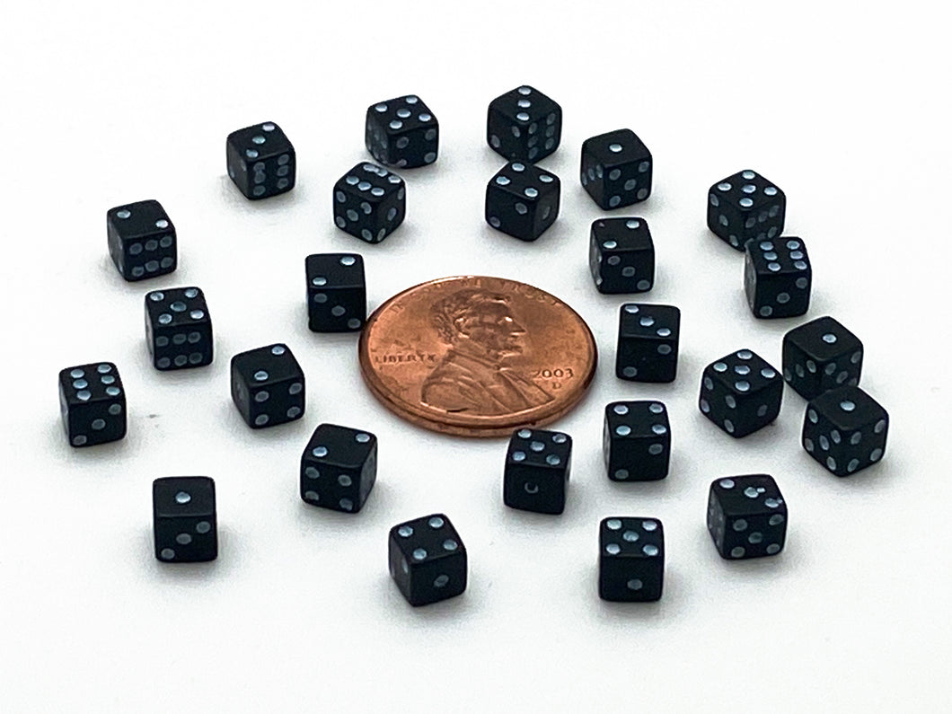 Six-Sided 4mm Dice - set of 25