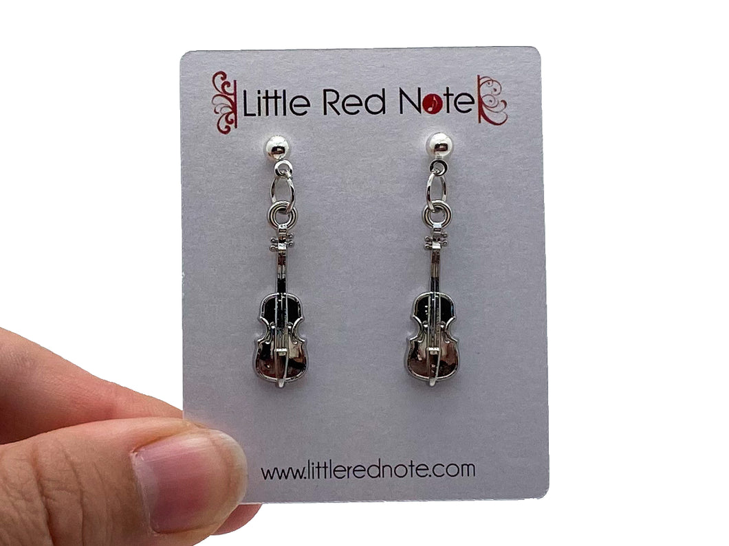 Dangle Post Cello Earrings