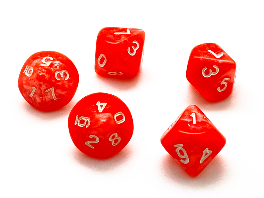 D10 Ten Sided Dice - 5 (orange)