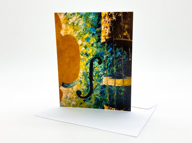Violin Painting Blank Card