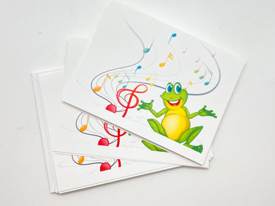 Musical Frog Card - Set of 3