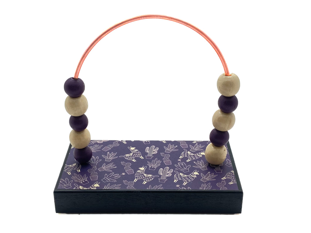 Llamas and Cactus Purple Bead Counter