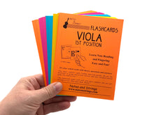 Load image into Gallery viewer, Viola Regular Unlaminated Flashcards