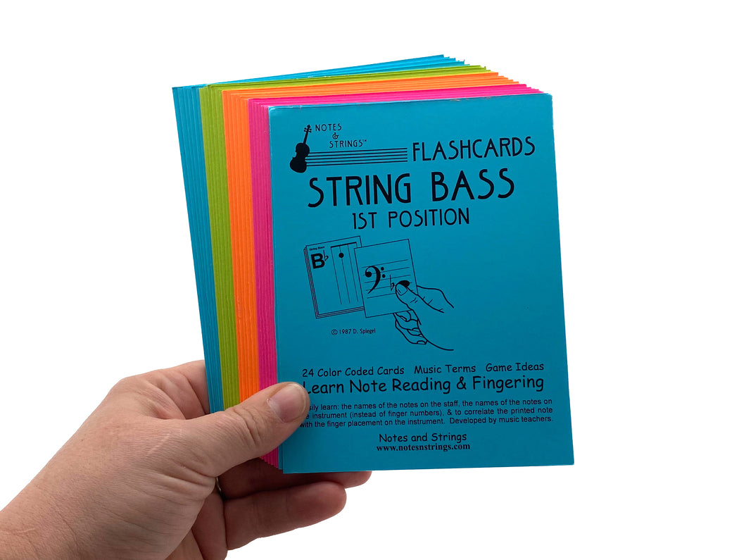 String Bass Regular Laminated Flashcards
