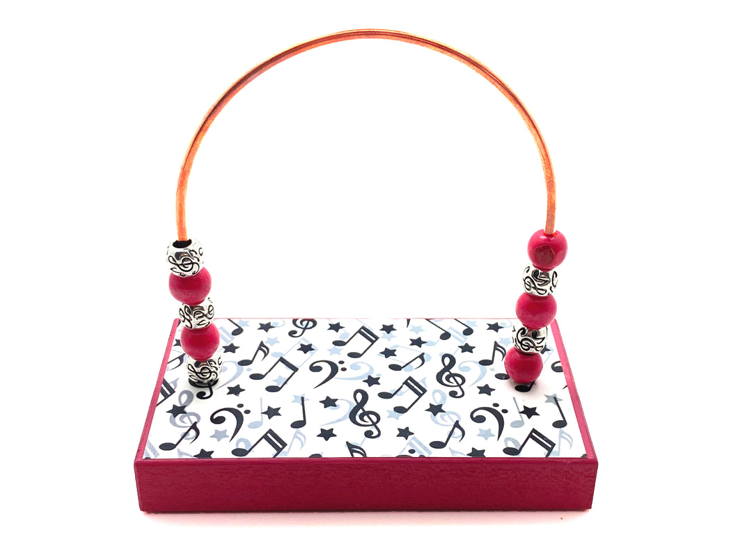 Music Notes and Stars Hot Pink Base Bead Counter