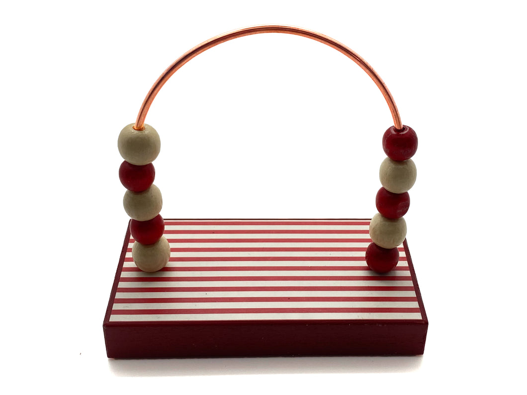 Stripes Red and White Bead Counter