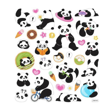 StickerKing Panda Glitter Stickers