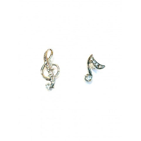Treble Clef Eighth Note Stud Earrings