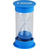 2 Minute Sand Timer Medium (blue)