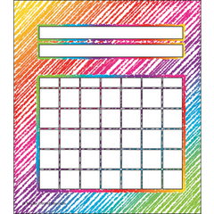 Colorful Scribbles Incentive Chart