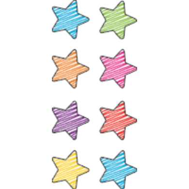 Scribble Stars Mini Stickers