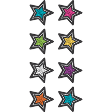 Load image into Gallery viewer, Chalkboard Brights Stars Mini Stickers