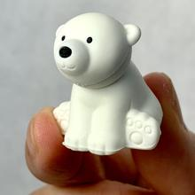 Polar Bear Eraser - White