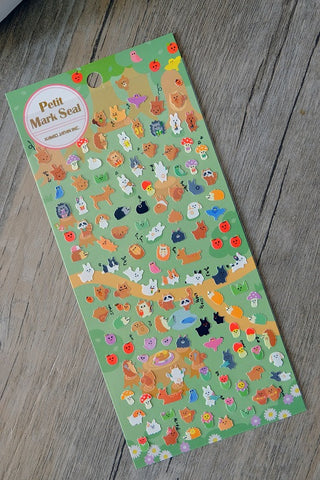 Animal Petit Mark Seal Stickers