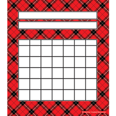 Red Plaid Incentive Chart