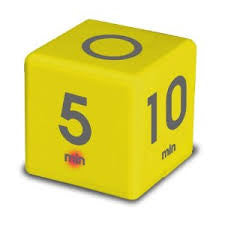 Cube Timer 5, 10, 20, 45 Yellow