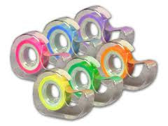 Removable Highlighting Tape - 6 PACK FLUORESCENT - 720""