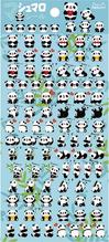 Nekoni Tiny Puffy Panda Stickers