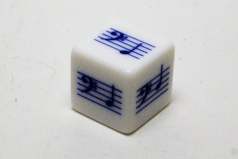 Pentatonic G Scale Notes Die - Bass Clef  (Blue)