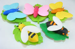Bee and Butterfly Erasers