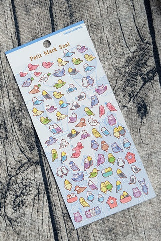 Birds Petit Mark Seal Stickers