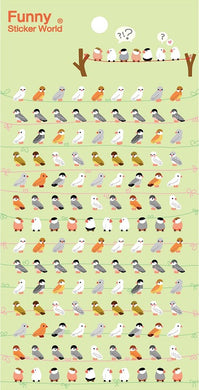 Funny World Birds Mini Stickers