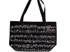 Sheet Music Tote Bag BLACK