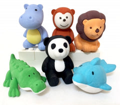 Cartoon Animal Erasers