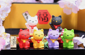 Waving Kitty eraser