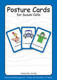 Cello Posture Cards - Large