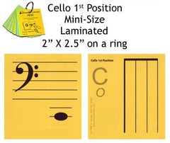 Cello Mini Laminated Flashcards