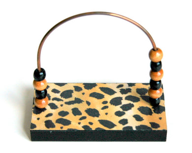 Cheetah Print Bead Counter
