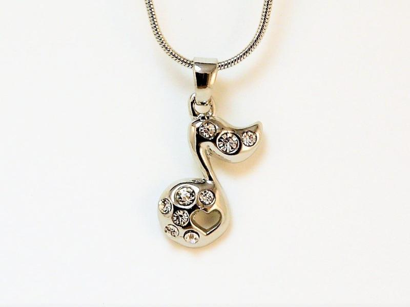 Eighth Note Heart Necklace