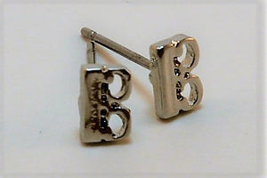 Stud Earrings Alto Clef Viola Silver