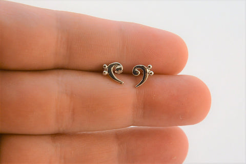 Bass Clef Post Earrings