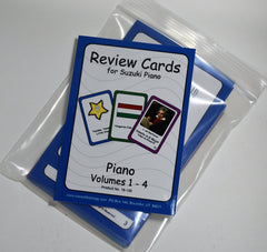 Review Cards for Suzuki Piano