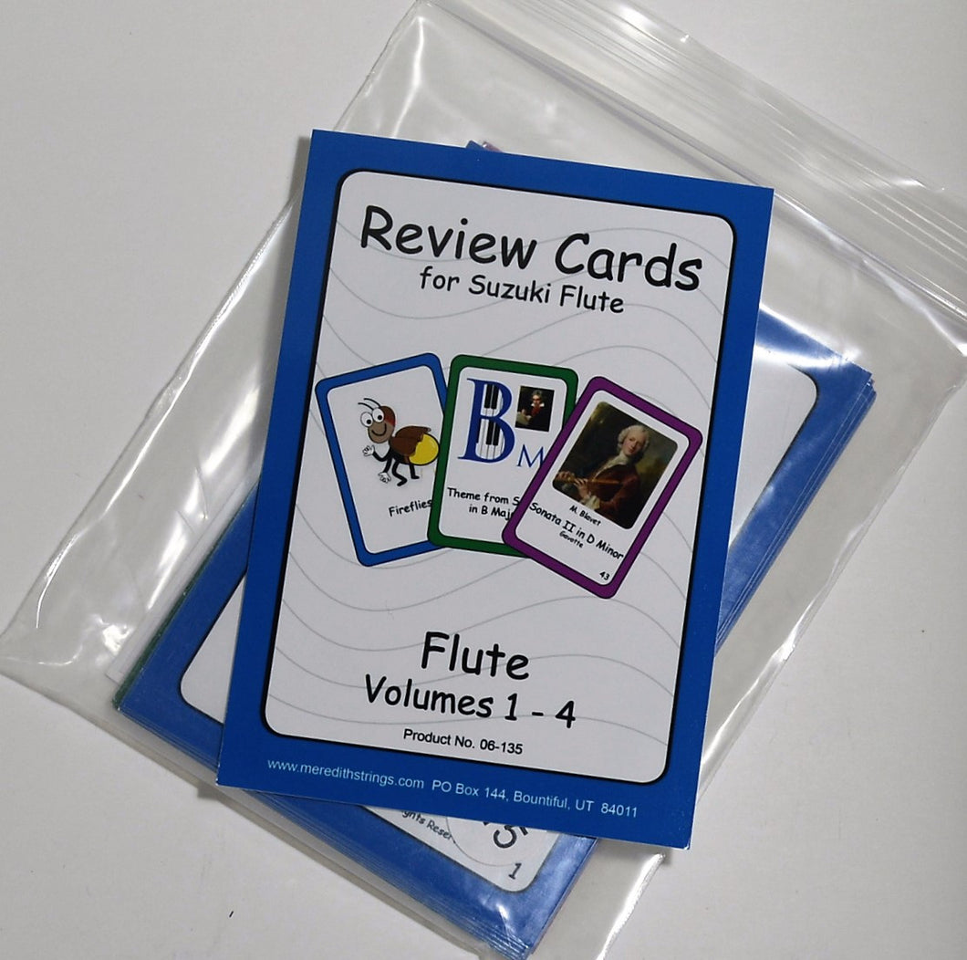 Flute Suzuki Review Cards - Large