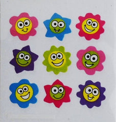 Sandylion Flower Happy Face Stickers