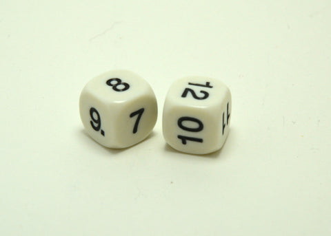 6 Sided 7-12 Dice
