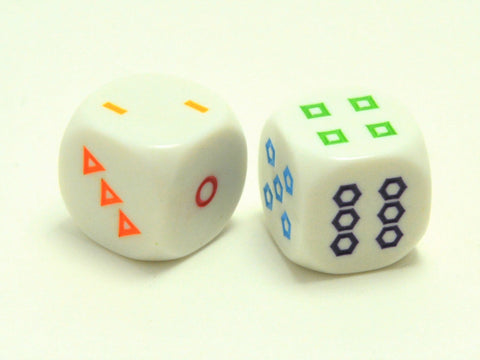 D6 Shapes Dice - White - 16mm