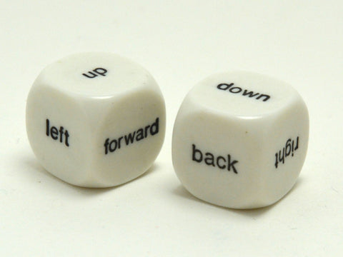 Directions Dice - White - 16mm - d6