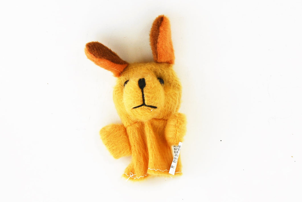 Dog Big Ears Finger Puppet - Light Brown