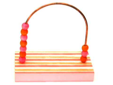 Stripes Pink and Orange Bead Counter