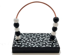 Dog Bones Black and White Bead Counter